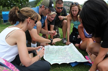 Team building map and compass work