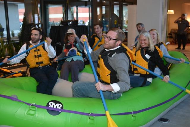 Indoor Virtual Rafting of Colorado River - Denver Team Events with Colorado Wilderness Corporate And Teams